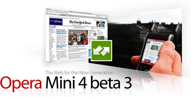 Opera Mini 4 Beta 3
