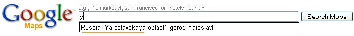 Поиск Google Maps